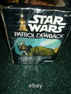 Vintage Star Wars Patrol Dewback in the Original Box