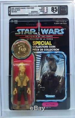 Vintage Star Wars Potf Yak Face Afa 85 (85/85/85) Unpunched! Holy Grail Moc