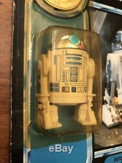 Vintage Star Wars R2-D2 POTF 1984 Pop-up Lightsaber MOC RARE 92 back last 17