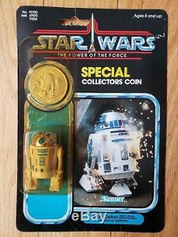 Vintage Star Wars R2-D2 Pop-up Lightsaber POTF Last 17 Kenner 1984 MOC
