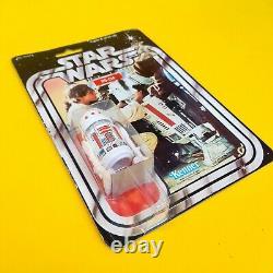 Vintage Star Wars R5-D4 MOC 21A Back 100% Original Seal, Kenner, Damaged Bubble