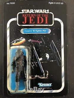 Vintage Star Wars ROTJ Tie Fighter Pilot figure 77 Back MOC