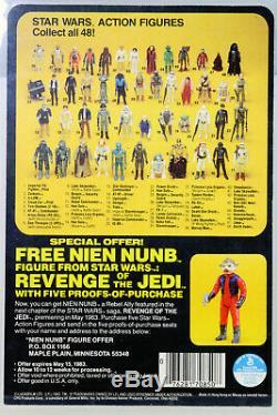 Vintage Star Wars Revenge of The Jedi 48 Bk Proof Card Death Squad Cmdr UKG 90