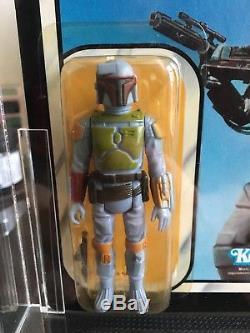 Vintage Star Wars Rotj Afa 80 (80/80/85) Boba Fett Moc 77 Back, Anh, Esb