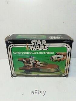 Vintage Star Wars Sonic Controlled Landspeeder, Original 1970s Boxed Very Rare