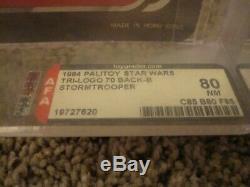 Vintage Star Wars Tri Logo / Palitoy Stormtrooper AFA80 C85 B80 F85
