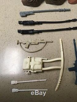 Vintage Star Wars Weapons Lot Ewok Hoods Staff Blaster Rifle Kenner Original