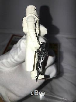 Vintage Star Wars YPS German Hoth Snowtrooper With Comic In Acrylic Case LOOK