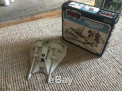 Vintage Star Wars figures job lot Yakface EV-9D9 Boxed Snowspeeder And AT/ST Inc