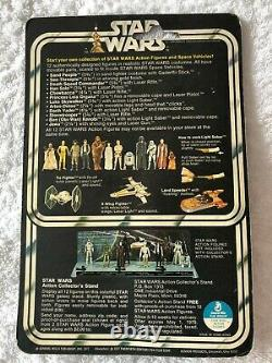 Vintage Star wars Luke skywalker 12 back card 1977 kenner excellent condition