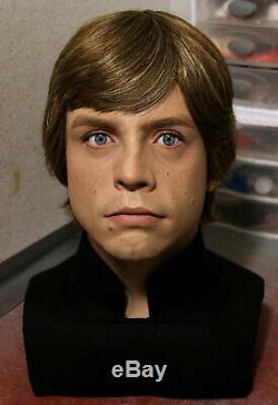 1/1 Lifesize Custom Luke Skywalker Buste Wars Vintage Étoiles Prop Rotj En Stock