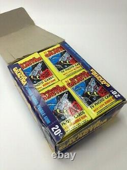 1 Boîte 36 Packs Fart Battlestar Galactica Topps 1978 Cartes À Collectionner Sealed Vintage