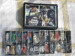 1977-1980 Wars Vintage 24 Étoiles Figurines Armes Cas Originales Complètes