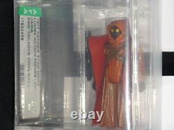 1977 Vintage Esb Toltoys Vinyl Cape Jawa Afa60 Star Wars Afa Cib Authentifié 1