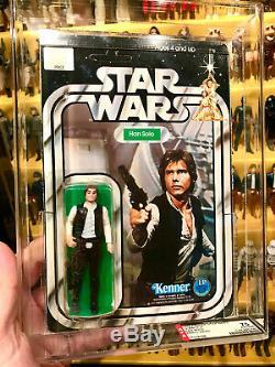 1978 Han Solo Kenner 12 Back Un Star Wars Non Perforé Afa 75 80 80 Vintage Moc Cb