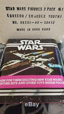 1978 Star Wars Sears Vintage Figures Avec Boîte Originale Et Promo Snaggletooth Greedo