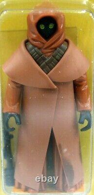 1978 Vintage Kenner Star Wars 12 Back-a Jawa Avec Vinyl Cape Action Figure Afa 7