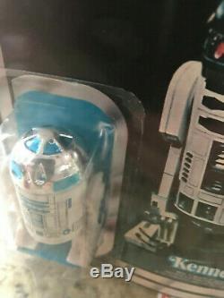 1978 Vintage Star Wars R2 D2 12 Retour A Réf Sur Support Cas / Afa 70+ Moc Unpunched