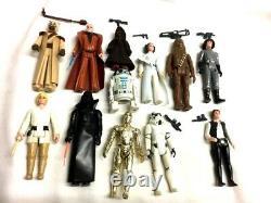 1978 Wars Vintage 12 Étoiles Retour Complète Figure Set Courrier Présentoir Leia Luke