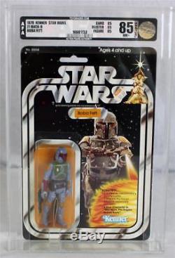 1979 Vintage Kenner Star Wars 21 Boba Fett De Dos-b Afa 85 Nm + # 16681733