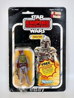 1980 Star Wars Esb Boba Fett Kenner Action Vintage Figure 21 Retour, Moc Cardée