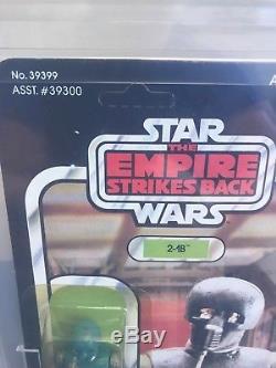 1980 Vintage Kenner Esb Star Wars 2-1b 41d Retour Afa 85y (85,85,85) Rare Unpunchd