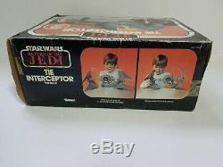 1983 Vintage Star Wars Tie Interceptor Véhicule Kenner Jamais Utilisé Affiche