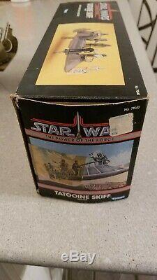 1984 Star Wars Kenner Vintage Potf Tatooine Skiff Complet Avec Box! Rare