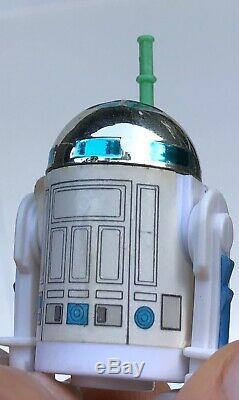 1984 Vintage Star Wars R2-d2 Authentique Pop Up Saber Action Figure Last 17 Potf