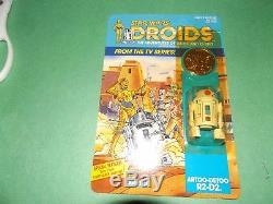 1985 Vintage Star Wars Droids Dessin Animé R2d2 Unpunched! Super Sympa! Rare