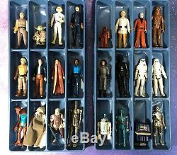 24 Vintage Star Wars Figurines Lot Vinyl Space Case Kenner Figure Originale