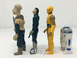 4 Repro Figures Yak Visage, Bleu Snaggletooth, Droids Cru De Type C-3po Et R2-d2