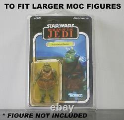 50 X Action Figure Case New & Vintage Style Star Wars Ou Gi Joe Figures Cardées