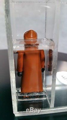 Cape De Vinyle Star Wars Vintage Caped Jawa Rare Action Figure Ukg 80% Pas Afa