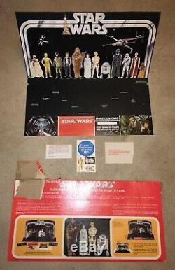 Certificat De Vitrine D'affichage De Kenner Early Star Vintage Star Wars 1977 Htf Vtg