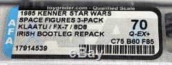 Chiffres De L'espace Irlandais Vintage Star Wars 3-pack (klaatu, Fx-7, 8d8) Afa 70 Q-ex + # 1