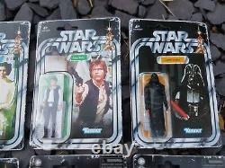 Collection Star Wars Moc Retro Collection Complète Sw Esb Boba Fett Wave 1 2 Cardé Vintage