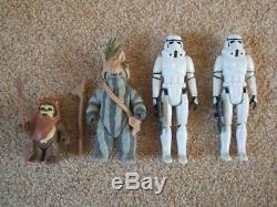 Combinaison De Combat Ewok Complète Vintage Star Wars 100% Originale Avec Emballage D'origine 1984