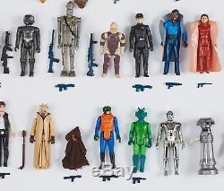 Complète Collection De Figurines Star Wars Vintage (x77) 1977-1984 Armes Originales