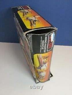 Complète Star Wars Vintage X Wing Fighter Original Boxed Kenner Battle Damaged