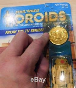 Dessin Animé R2-d2 Vintage De Star Wars Droids Cartoon & Coin Scellé