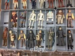 Énorme Lot De Figurines Vintage Star Wars 257 Complet Avec Des Armes