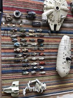 Ensemble De Figurines Et De Véhicules Star Wars 37 Vintage 1977-1984 Lot De Travaux