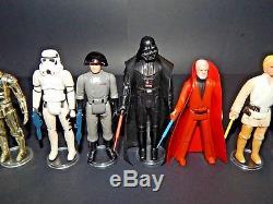 Étui De Collection Vintage Star Wars Original 12 Figurines Avec Darth Vader