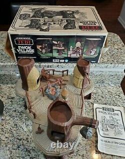Ewok Village Playset 1983 Star Wars Vintage Original 100% Complet Avec Nice Box