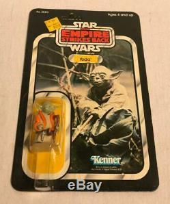 Figurine Cardée Kenner Vintage Star Wars Vintage Esb 1980 Yoda Moc 32