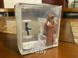 Figurine D'action Cape Jawa Hk Vintage Star Wars 1977 Kenner En Vinyle Afa 80 Nm Cib