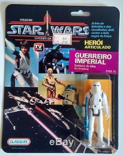 Glasslite Vintage Star Wars 1988 Brésil Stormtropper Moc Ultra Rare À Voir