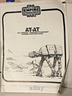 Instructions Insérées Dans La Boîte Vintage Star Wars At At Walker
