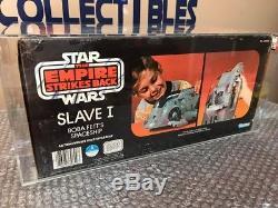 Kenner Star Wars Millésime 1981 Boba Fett Slave 1 Véhicule Afa 80 Factory Scellé
